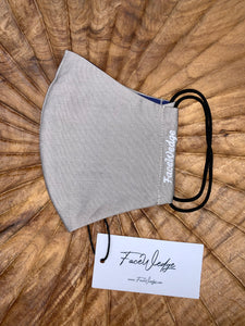 Dark lining - Champagne Nude Fabric Face Mask - FaceWedge
