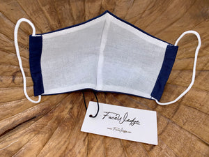 Navy Blue Fabric Face Masks - FaceWedge