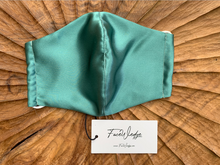 Load image into Gallery viewer, Mint Green Mulberry Silk Face Mask - FaceWedge