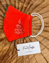 Load image into Gallery viewer, Christmas Tree Fabric Face Mask - FaceWedge