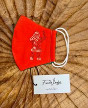 Load image into Gallery viewer, Christmas Santa Fabric Face Mask - FaceWedge
