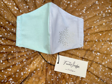 Load image into Gallery viewer, Christmas Snowflake Fabric Face Mask - FaceWedge