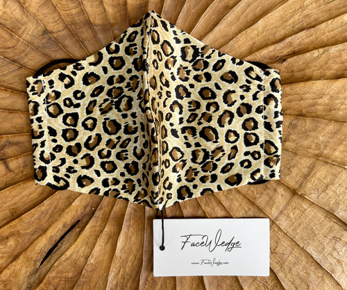 Leopard Print Mulberry Silk Face Mask - FaceWedge