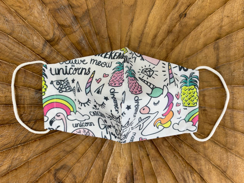 Unicorn Fabric Face Masks - FaceWedge Singapore Breathable Washable Reusable