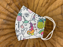 Load image into Gallery viewer, Unicorn Fabric Face Masks - FaceWedge Singapore Breathable Washable Reusable