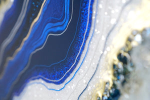 Sapphire Serenity  - Geode Inspired Crystal Wall Artwork