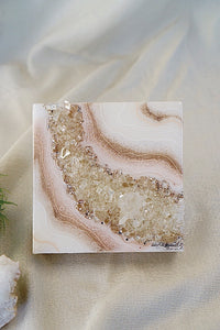 Geode Inspired Micro Crystal Wall Artwork