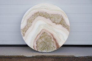 Blushed - Geode Inspired Crystal Wall Artwork