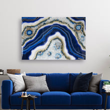 Load image into Gallery viewer, Sapphire Serenity  - Geode Inspired Crystal Wall Artwork