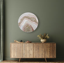 Load image into Gallery viewer, Blushed - Geode Inspired Crystal Wall Artwork