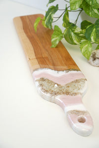 Geode Inspired Slender Charcuterie Board