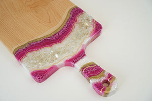 Geode Inspired Paddle Charcuterie Board