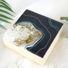 Load image into Gallery viewer, Micro Geode Inspired Artwork with Quartz Crystals