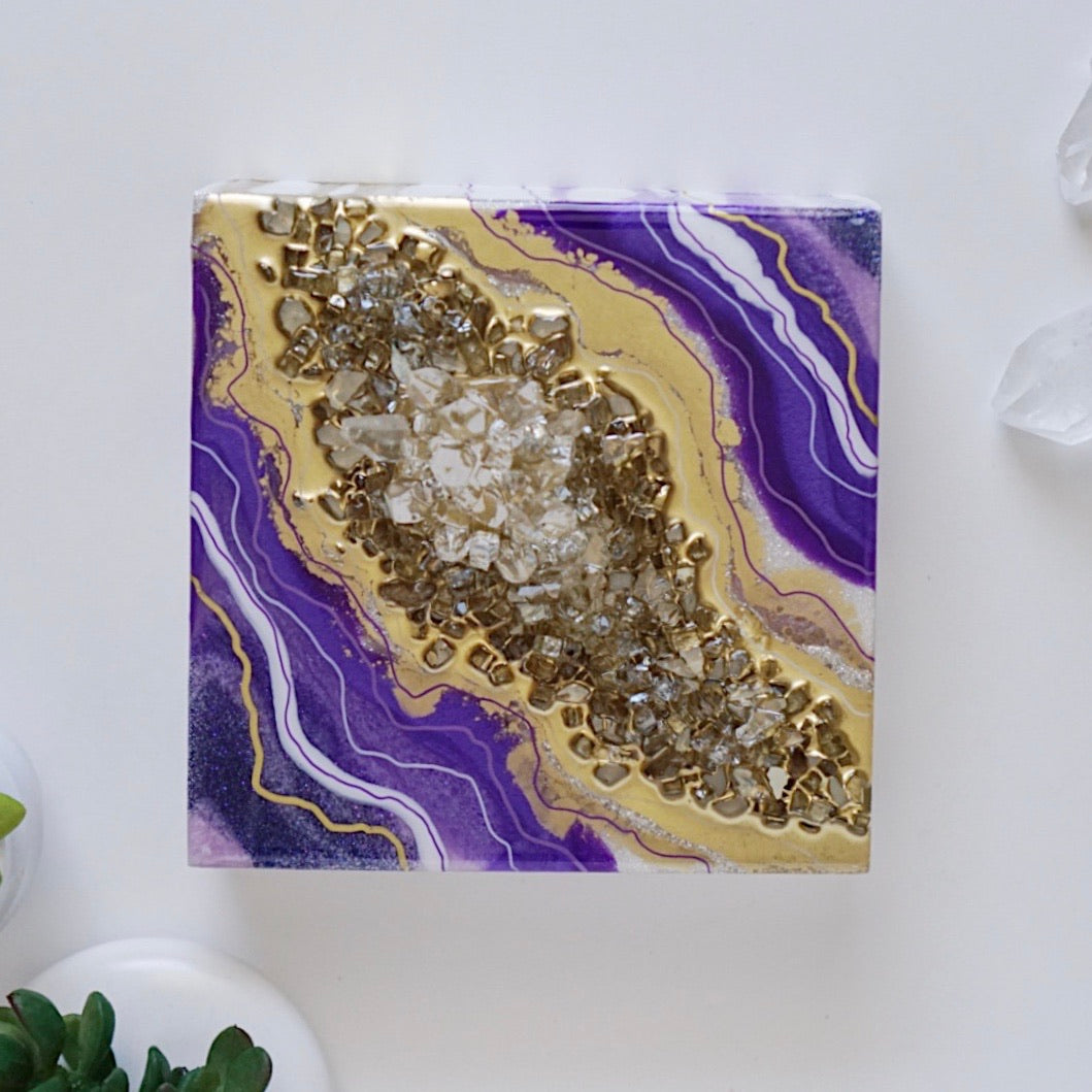 Micro Geode Inspired Artwork