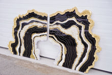 Load image into Gallery viewer, Gilded Onyx - Geode Inspired Crystal Wall Artwork