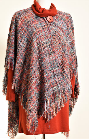 Wool Tweed Cape