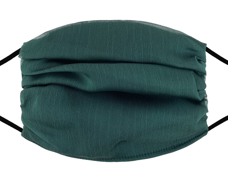 Fashion Mask - Chiffon - Hunter Green