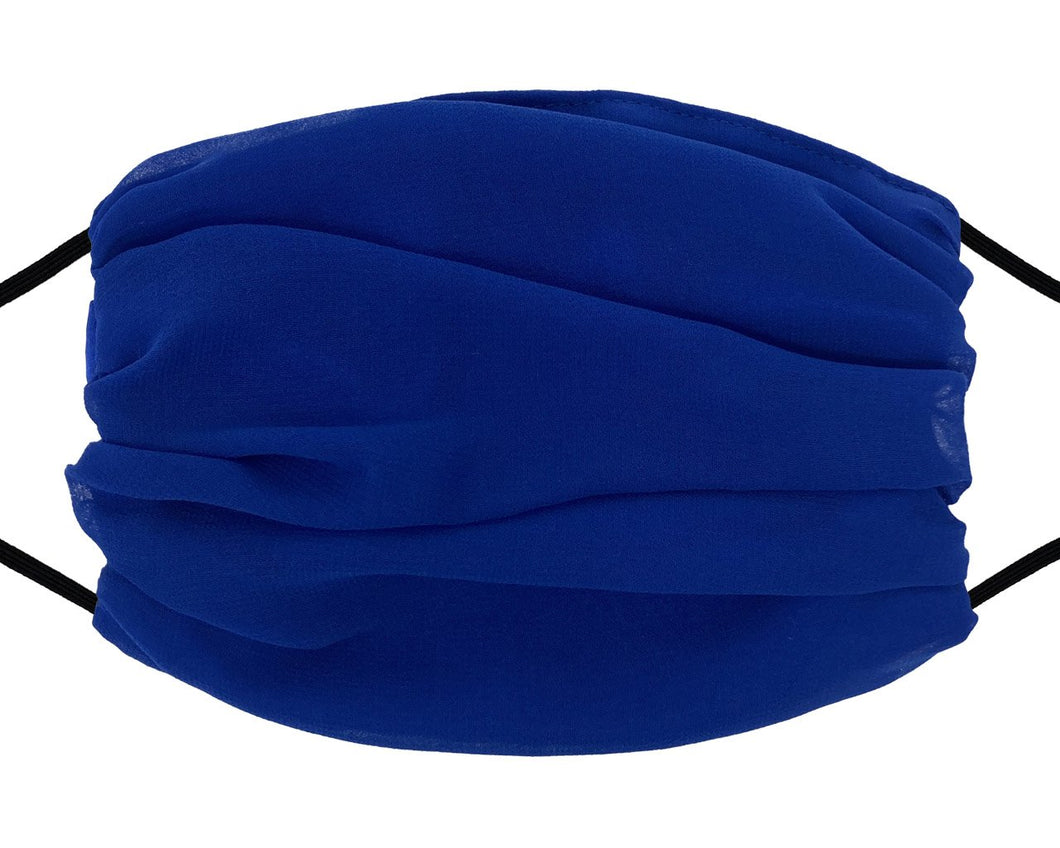 Fashion Mask - Chiffon - Royal Blue