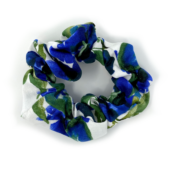 Scrunchie - Royal, Green Floral