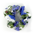 Scrunchie - White, Blue, Lavendar Floral