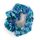 Scrunchie - White, Blue, Teal, Floral
