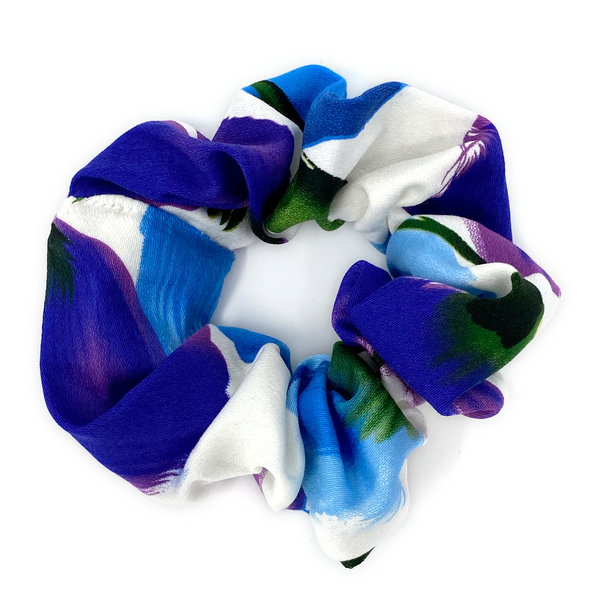 Scrunchie - Blue & Purple Tulip