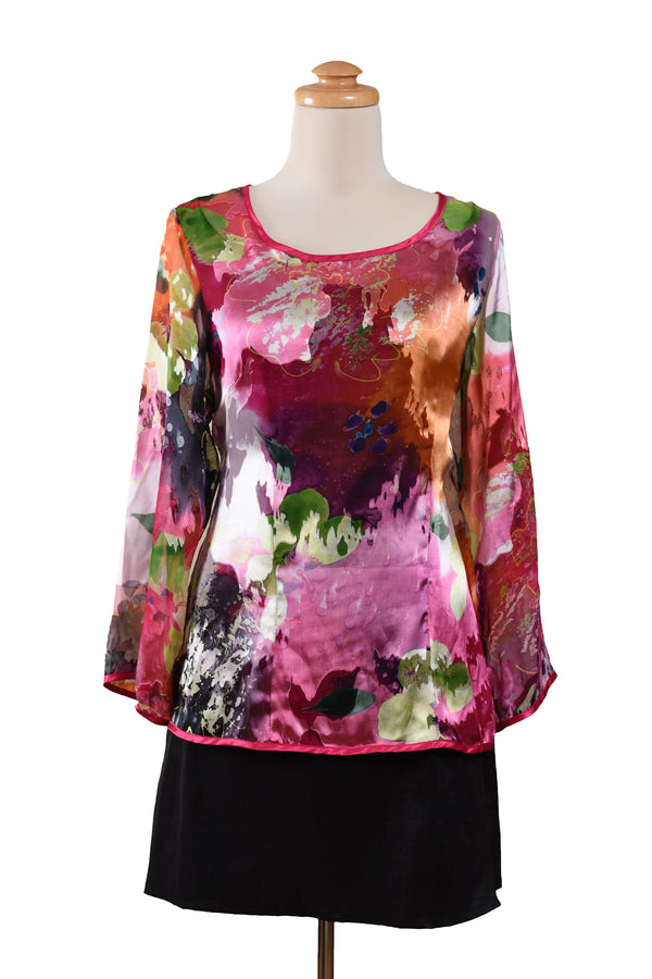 Italian Silk Flowy Top