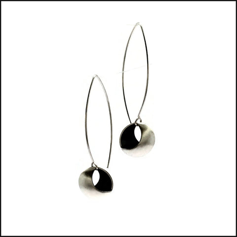 2 moons earrings  long