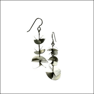 3 tiered folded discs earrings  - made to order