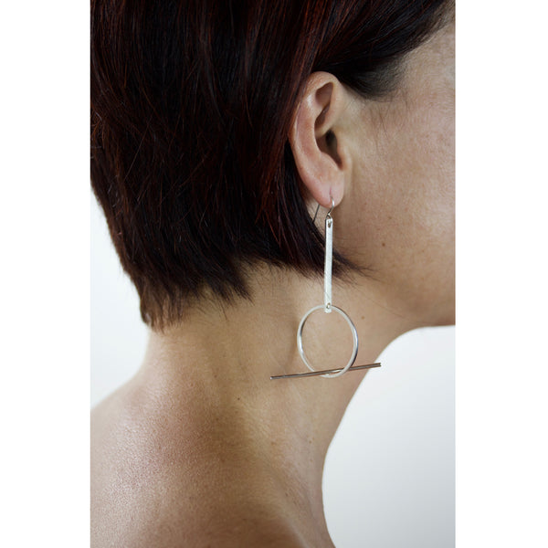 balancing act sterling silver earrings