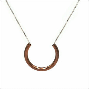 horseshoe pendant copper