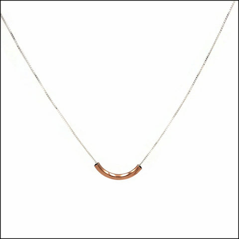 bar pendant short curve copper