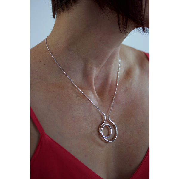 fancy spiral tube necklace - made to order