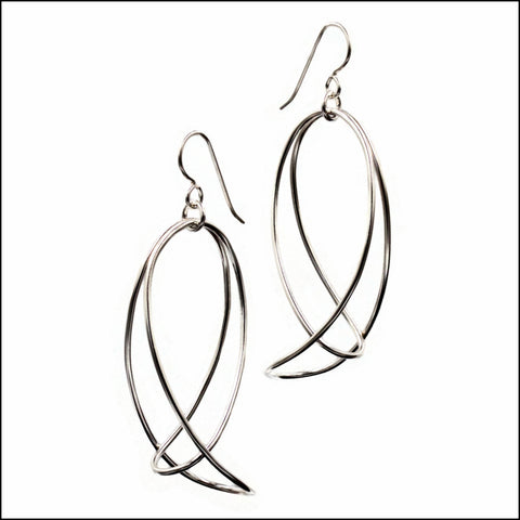 folded loops earrings
