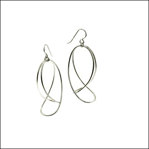 folded loops drop earrings