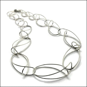 folded loops necklace