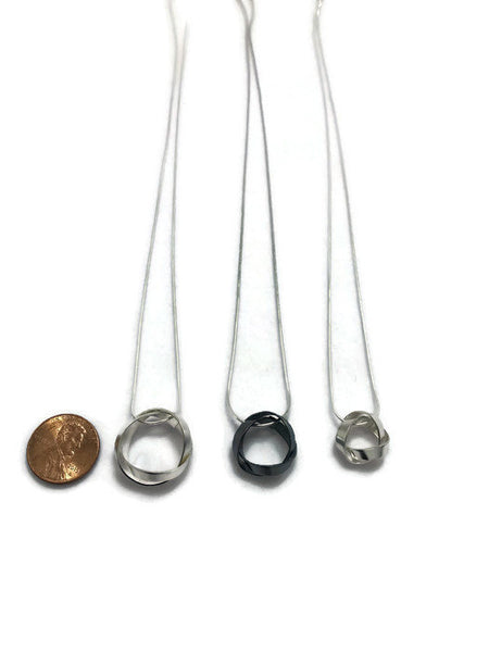 knots OXIDIZED sterling silver pendants