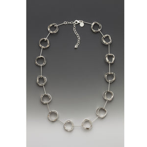 KNOTS-AND-STIX sterling silver necklace - made to order