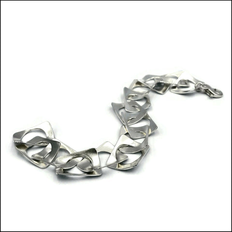 cricle-in-rectangles waves bracelet - made to order
