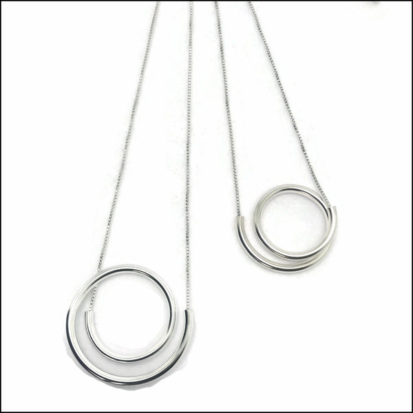 spiral tube necklaces