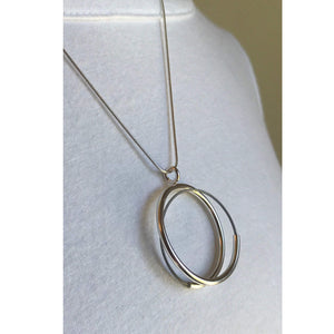 spiral tube circle pendant - made to order