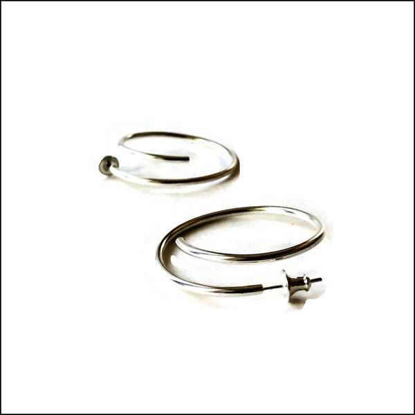spiral tube hoop earrings with posts