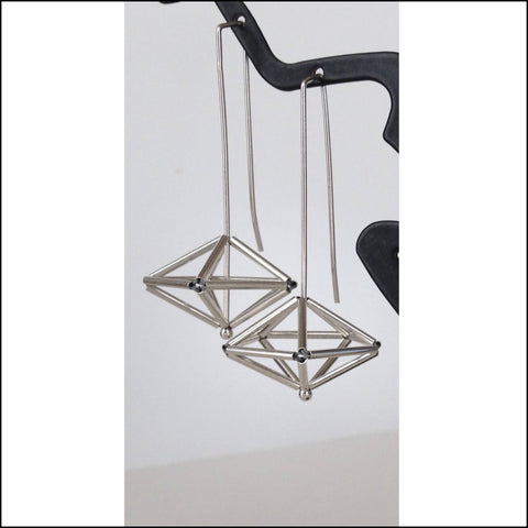 woven decahedron earrings