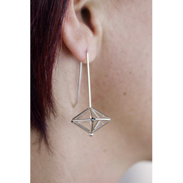 woven decahedron earrings - mode to order
