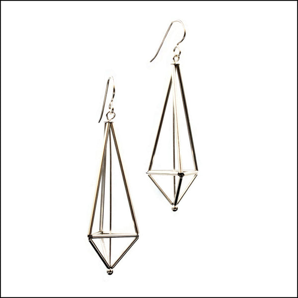 woven lantern earrings