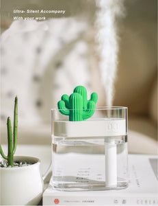 clear cactus humidifier/night lamp