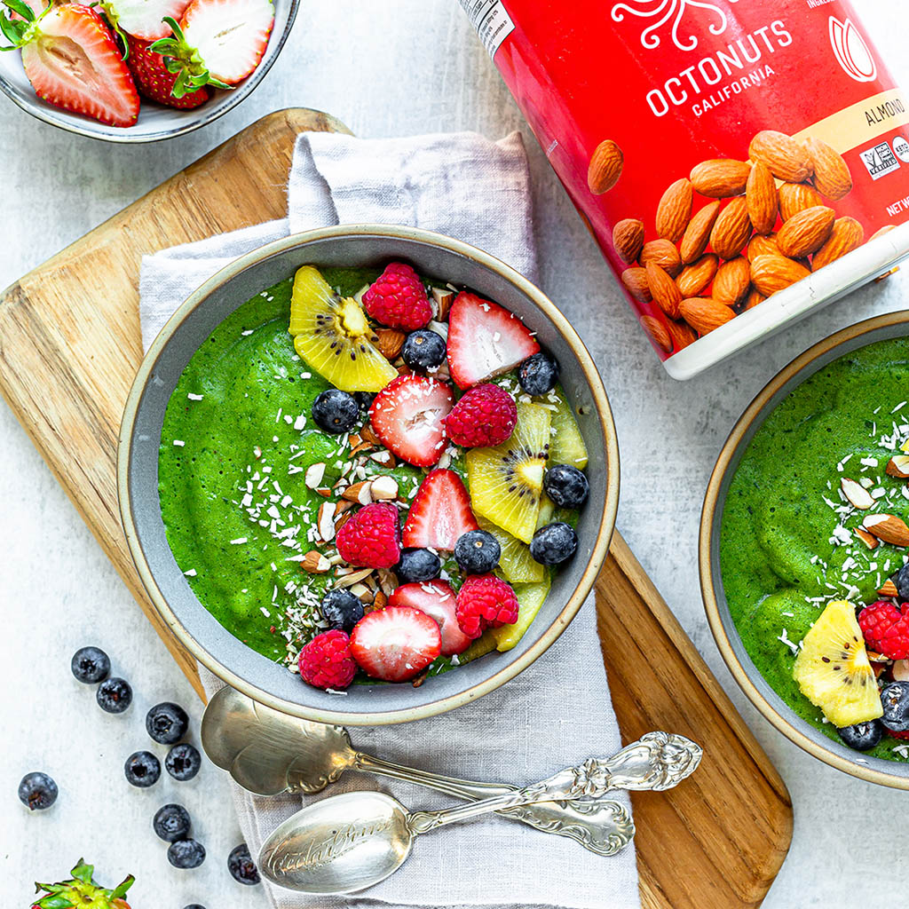 Green Protein Smoothie Bowl