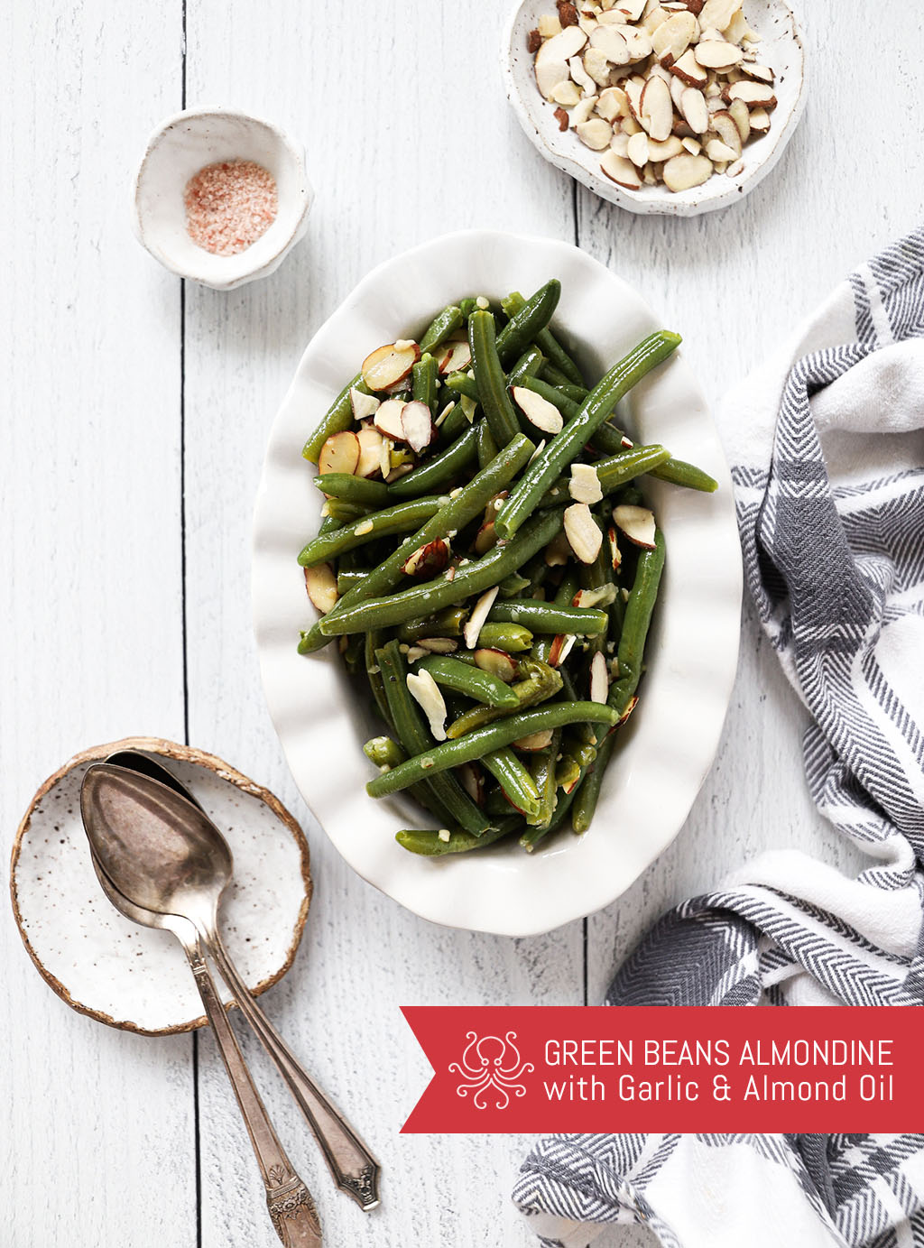 Green Beans Almondine with Octonuts Almond Oil