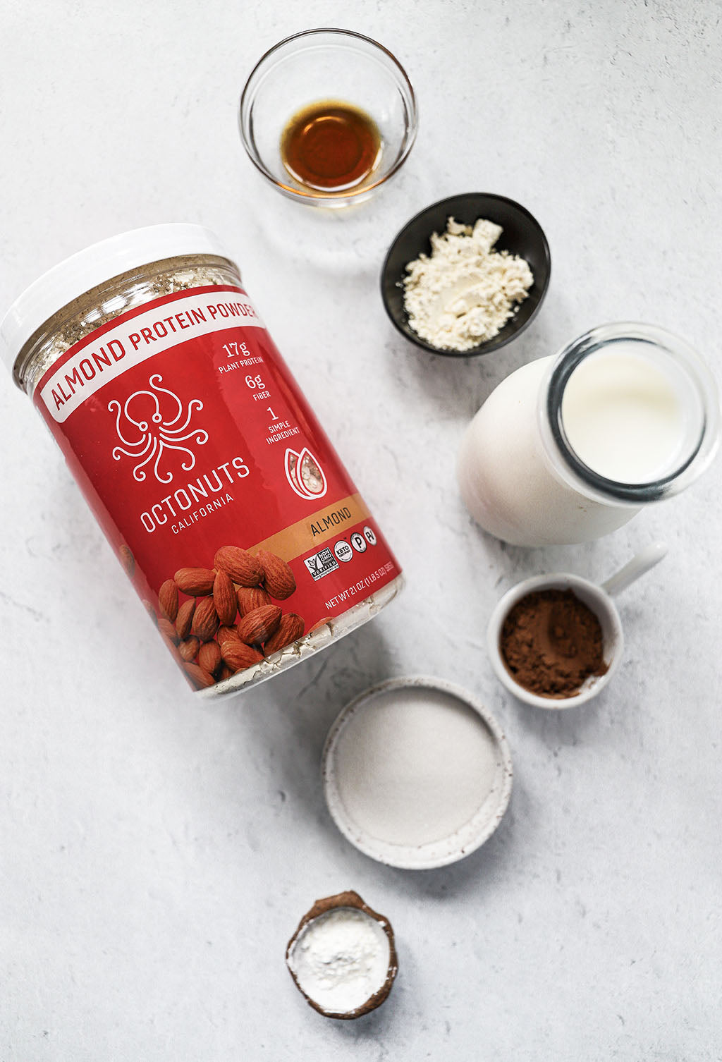 Creamy Hot Chocolate with Octonuts Almond Protein Powder