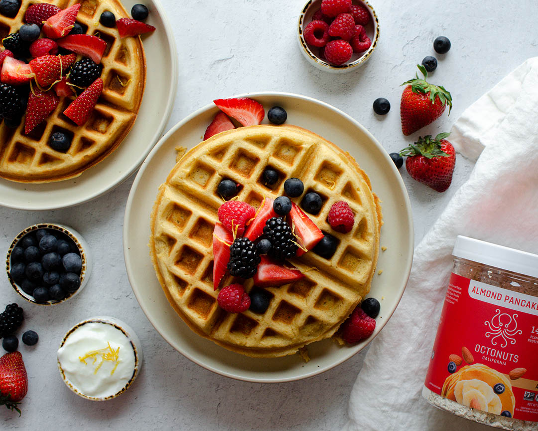 Octonuts Almond Protein Waffle Mix